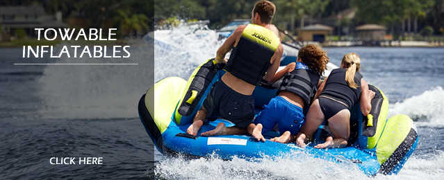 Closeout Towable Inflatable Tubes and Ringos, Boat Ski Tubes and Banana Boats, Water Toys and Closeout Towable Toys